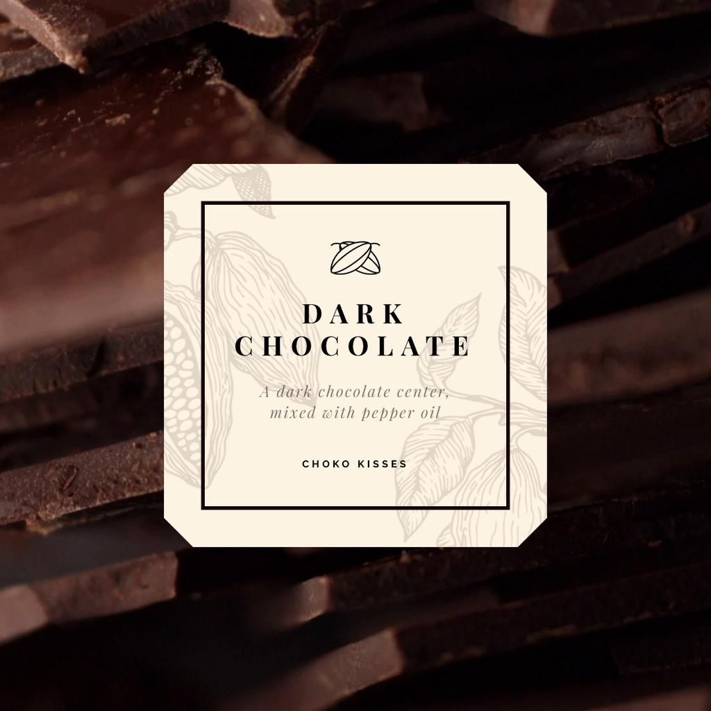 Sweet Dark Chocolate Pieces — Create a Design