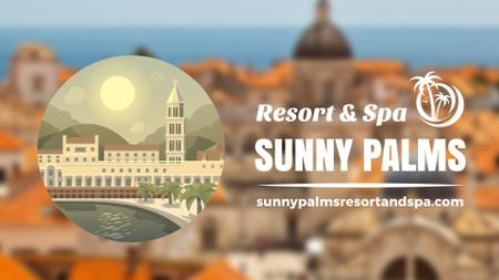 Plantilla de diseño de Tour Invitation with Sunny Southern Resort Full HD video
