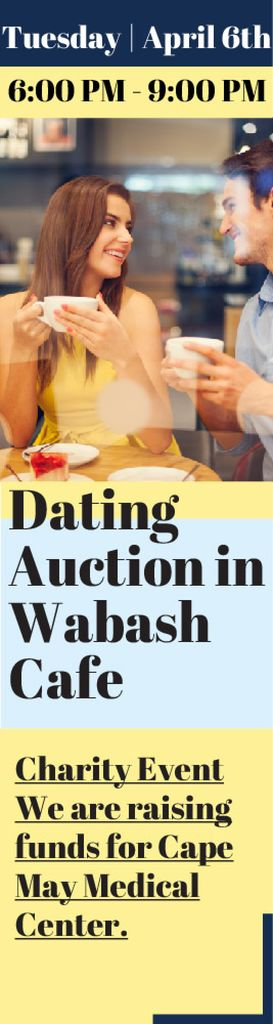 Dating Auction in Wabash Cafe — Створити дизайн