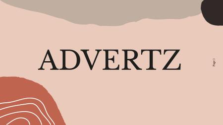 Template di design Advertising Company services ad Presentation Wide