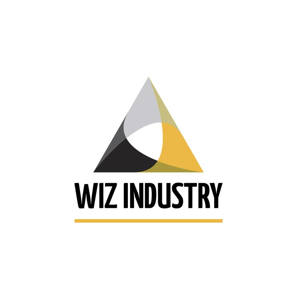 Industrial Company Logo Triangle Icon — Créer un visuel