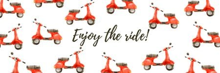 Plantilla de diseño de Enjoy the ride banner Twitter