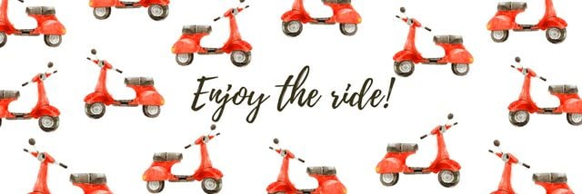 Enjoy the ride banner Twitterデザインテンプレート