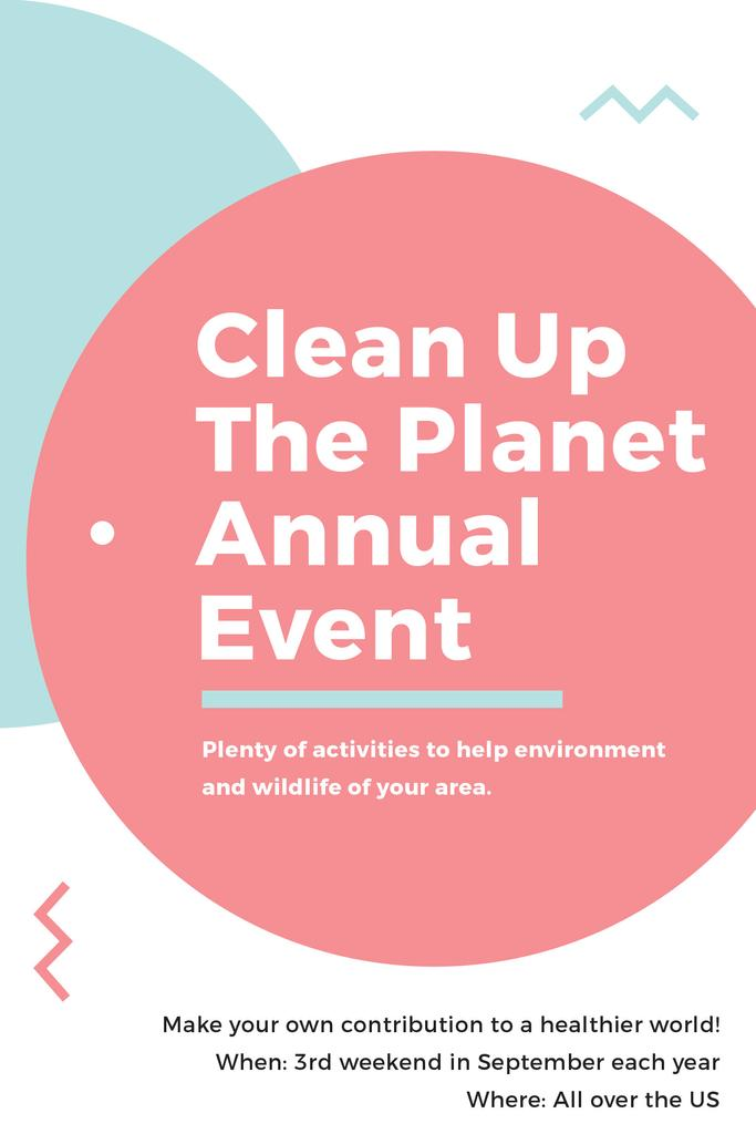 Ecological Event Announcement Simple Circles Frame | Pinterest Template — Create a Design