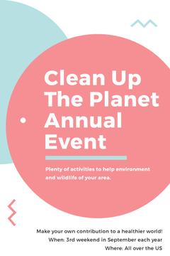 Ecological Event Announcement Simple Circles Frame | Pinterest Template