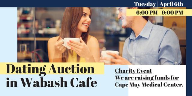 Ontwerpsjabloon van Image van Dating Auction in Wabash Cafe