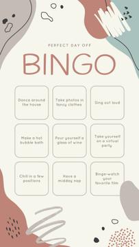 Bingo list for Perfect Day