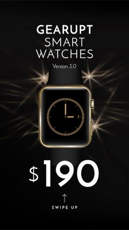 Plantilla de diseño de Luxury smart Watches Offer Instagram Story