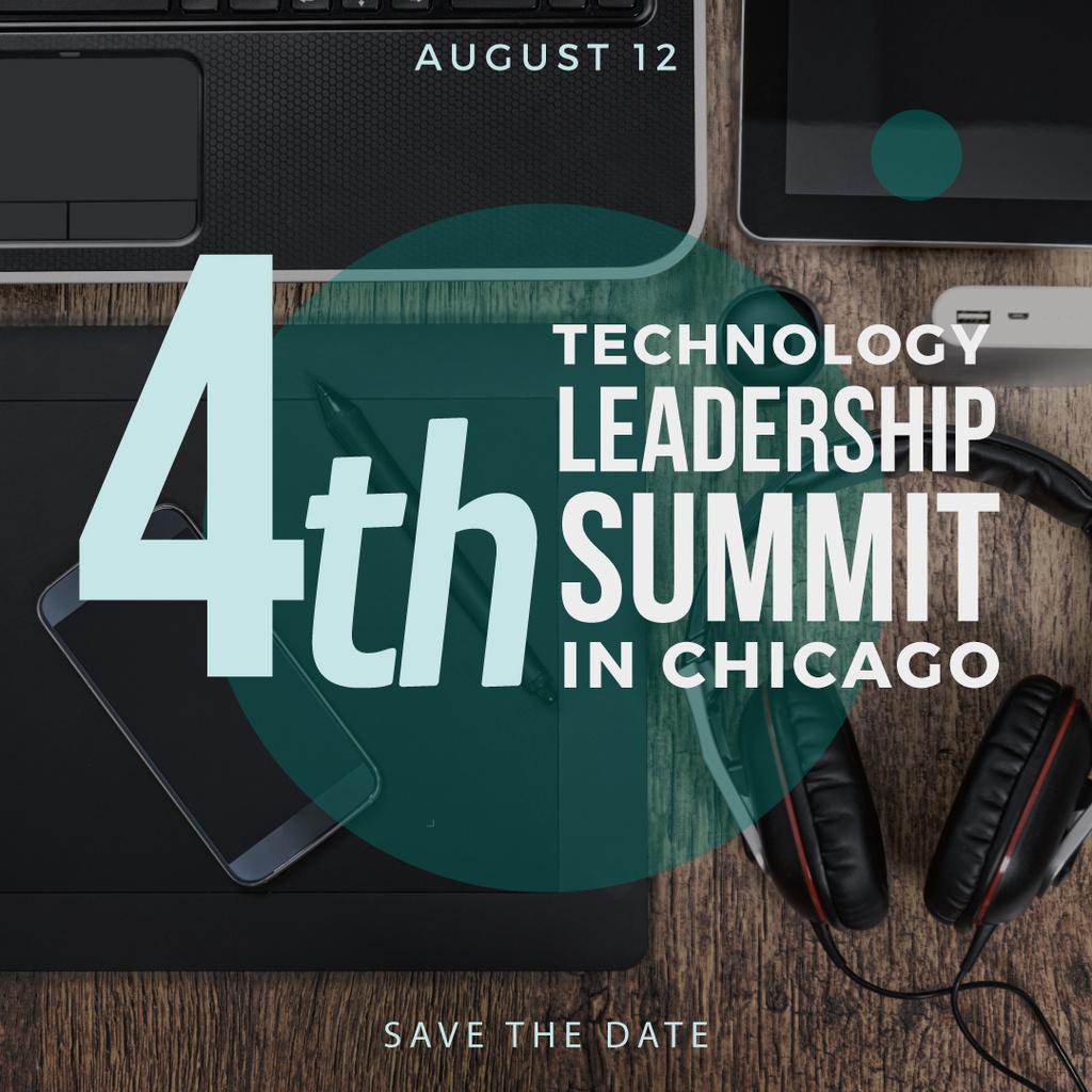 technology leadership summit poster — Crear un diseño