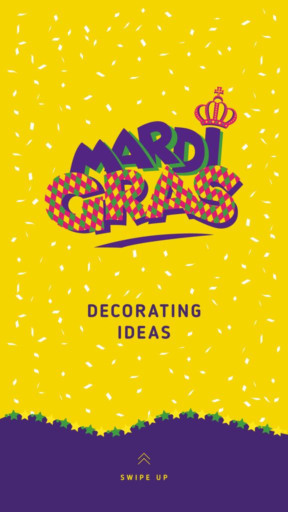 Mardi Gras lettering — Створити дизайн
