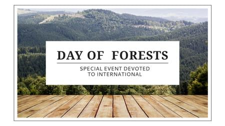Plantilla de diseño de International Day of Forests Event with Scenic Mountains Youtube