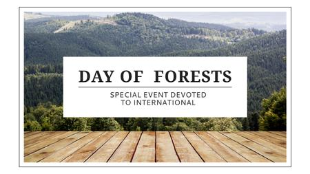 International Day of Forests Event with Scenic Mountains Youtube Tasarım Şablonu