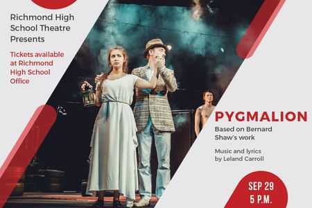 Plantilla de diseño de Pygmalion performance with Actors on Stage Gift Certificate