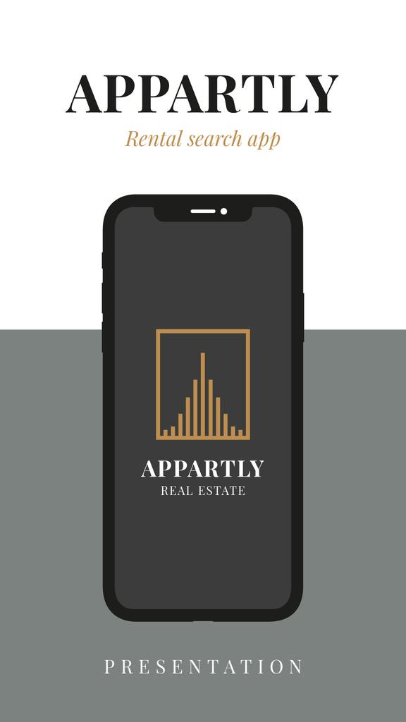 Template di design Rental App promotion Mobile Presentation