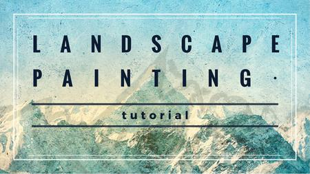 Scenic Mountains Landscape painting Title Modelo de Design