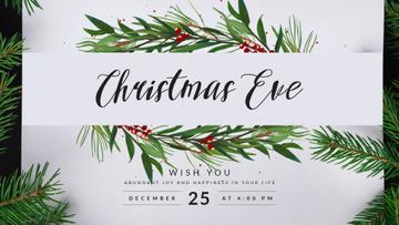Christmas Greeting with Fir Tree