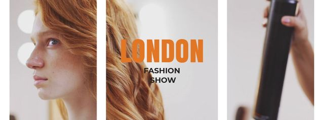 Template di design Stylist spraying female hair Facebook Video cover