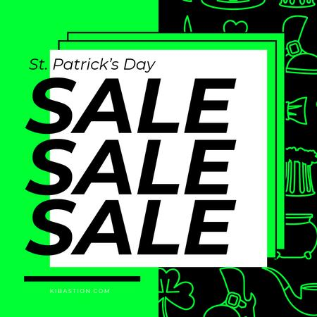 Modèle de visuel St.Patricks Day Sale - Instagram AD