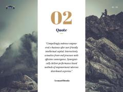 Motivational Quote with Climber