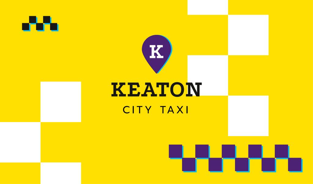 City Taxi Symbol in Yellow — Crear un diseño