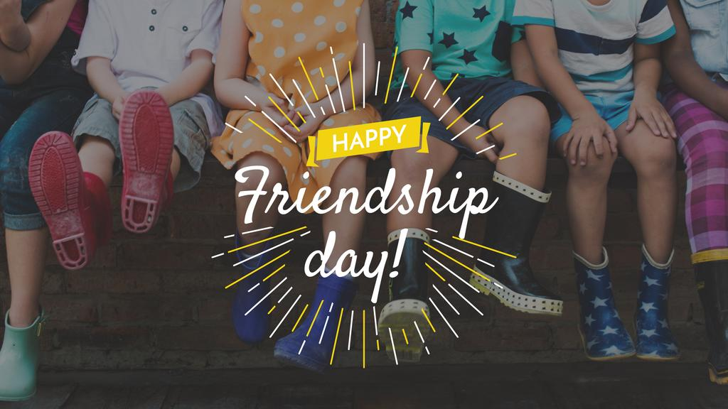 Friendship Day Kids in Rubber Boots | Youtube Channel Art — Create a Design