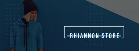 Plantilla de diseño de Advertisement for clothing store Facebook cover