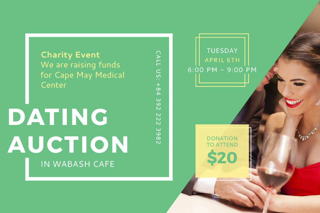 Dating Auction in Wabash Cafe — Créer un visuel