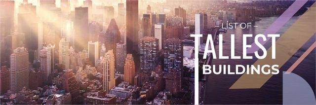list of tallest buildings poster Twitter – шаблон для дизайна