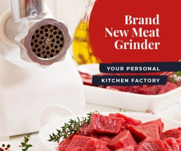 Kitchen Appliances Offer Grinding Raw Meat