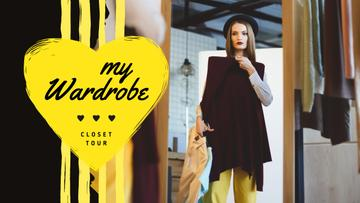 Fashion Blog Promotion Woman by Wardrobe | Youtube Thumbnail Template