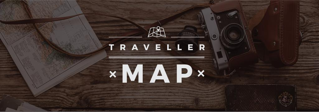 Travelling Inspiration Map with Vintage Camera —デザインを作成する