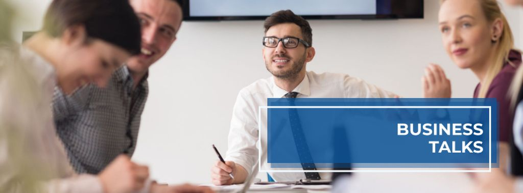 Business talks with Business people working together — Crear un diseño