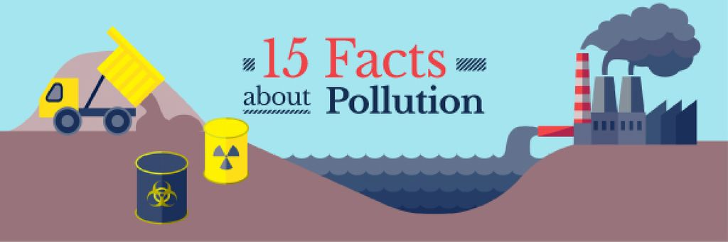 15 facts about pollution banner — ein Design erstellen