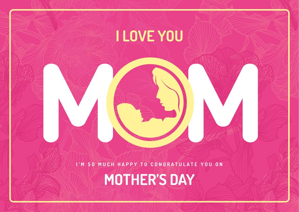 Symbol of mother with baby on Mothers day — Crear un diseño