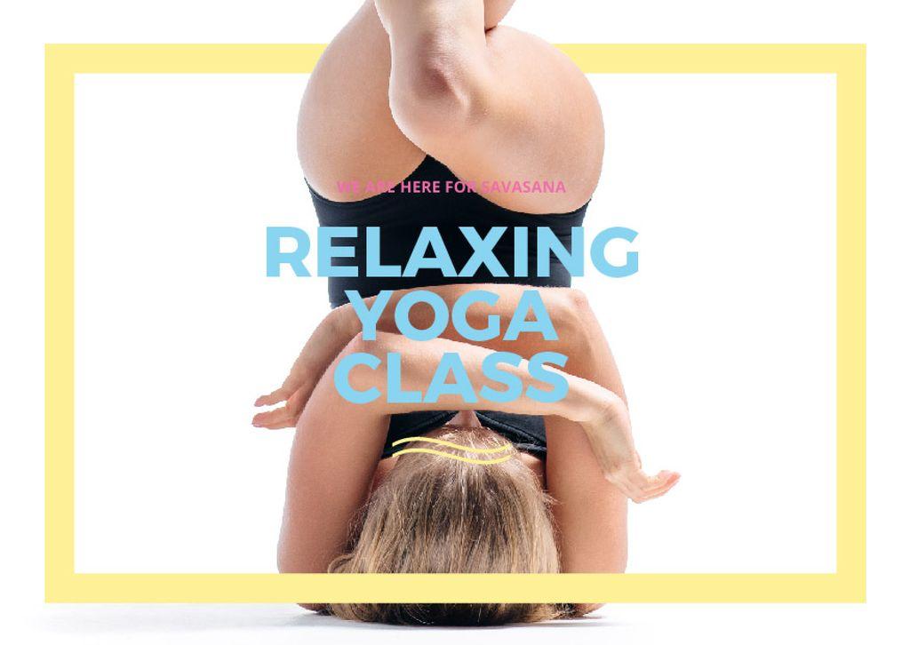 Modèle de visuel Relaxing yoga class Announcement - Card