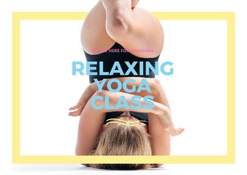 Relaxing yoga class Announcement