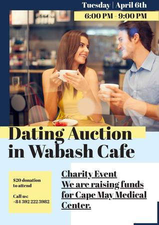 Template di design Dating Auction in Cafe Poster