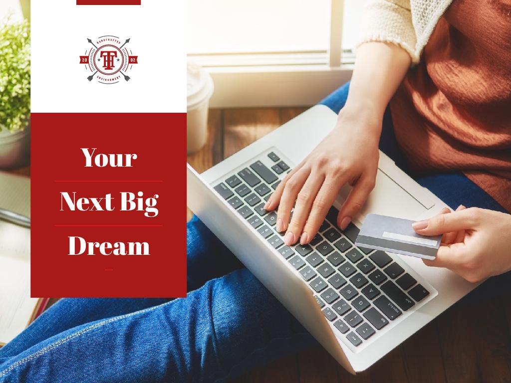 Online shopping next big dream — Crear un diseño