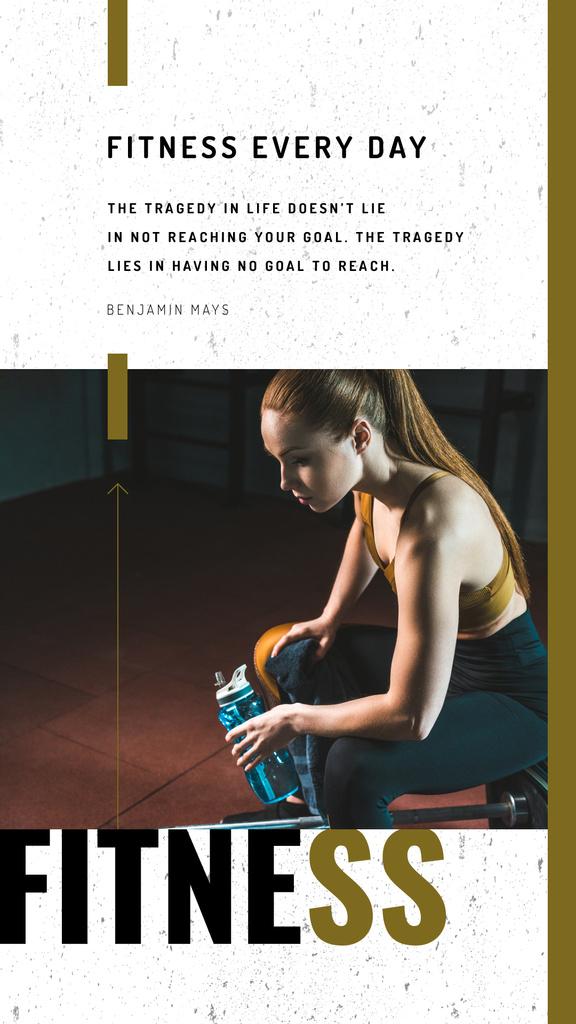 Girl resting during workout — Crear un diseño
