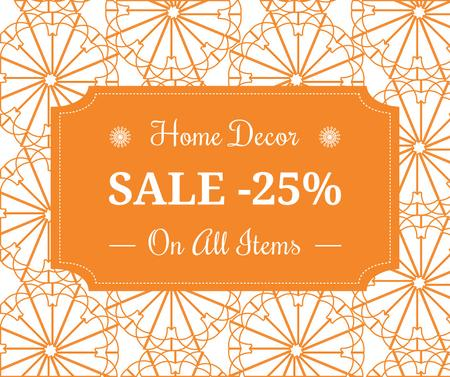 Home decor sale ad with floral texture Facebook – шаблон для дизайна