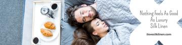 Luxury silk linen Offer with Sleeping Couple