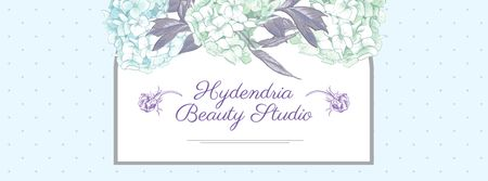 Plantilla de diseño de Beauty Studio Ad on Floral pattern Facebook cover