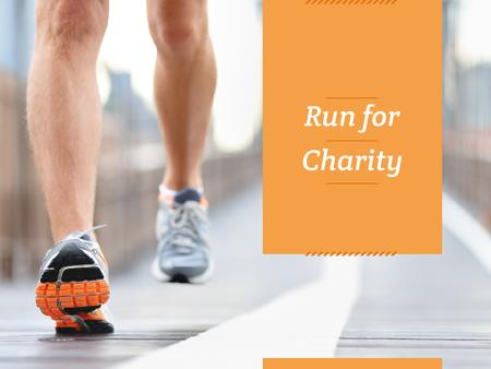 Charity Run Ad with Runner Presentation Modelo de Design