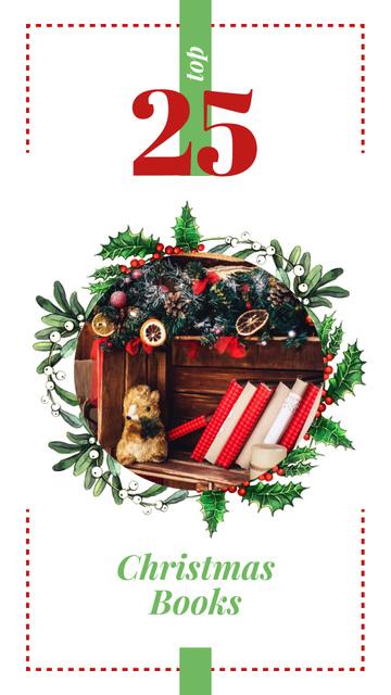 Toy and books with Christmas decor Instagram Story Modelo de Design