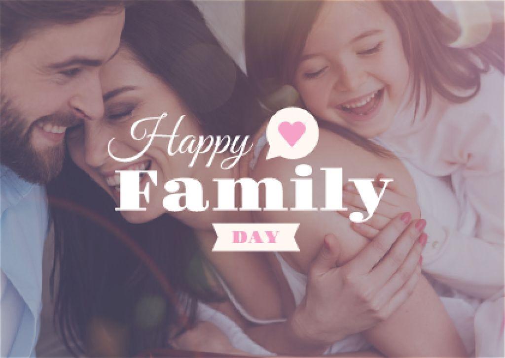 happy family day poster — Создать дизайн