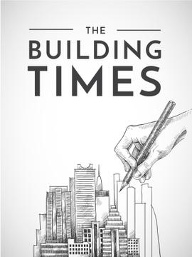 building times illustration with hand drawing buildings