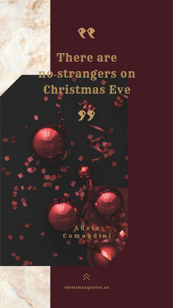 Shiny Christmas decorations with Quote Instagram Story Tasarım Şablonu