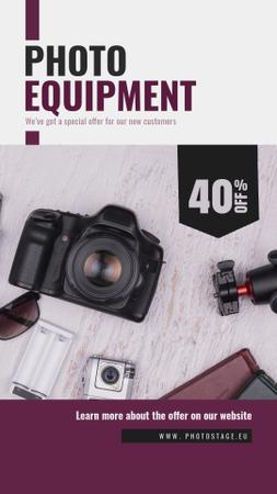 Template di design Dslr Camera and Photo Equipment Offer Instagram Video Story