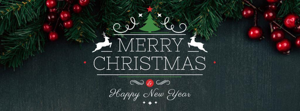 Christmas Greeting with Fir Tree Branches — ein Design erstellen
