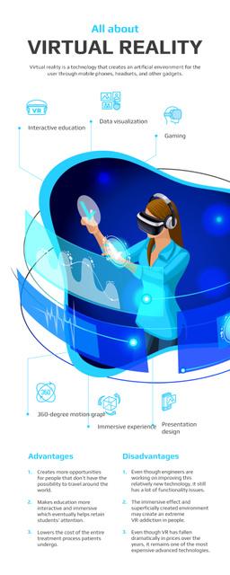 Modèle de visuel Informational infographics about Virtual Reality - Infographic
